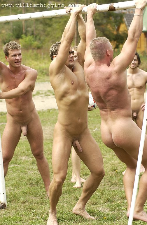 Naked men group soccer cum groups